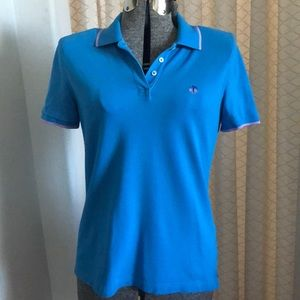 Brooks Brothers Blue & Lavender Performance Polo M